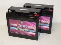2 x Leoch AGM-22-EV - 12volt 22ah Rechargeable AGM Batteries